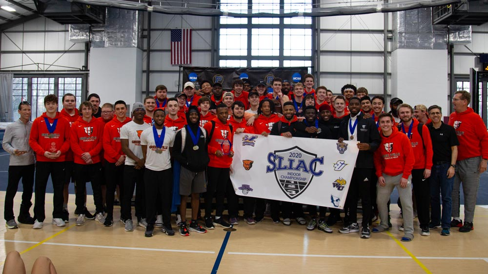 Men's track and field wins indoor SLIAC championship