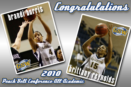 Burris and Reynolds named to PBC All-Academic Team
