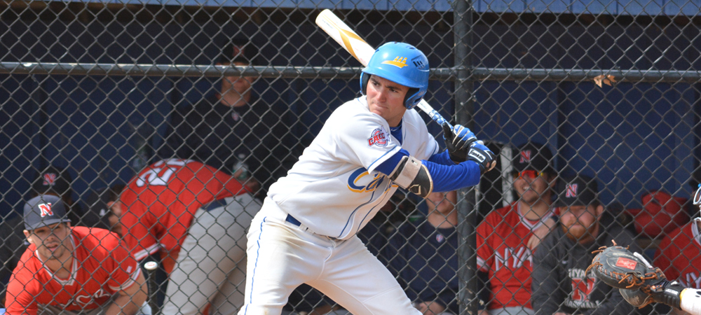 Rinaldi Hits First Collegiate Home Run In Baseball's Doubleheader Split With Nyack