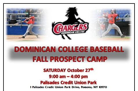The baseball program will host a prospect camp on Saturday, October 27th, 2018.