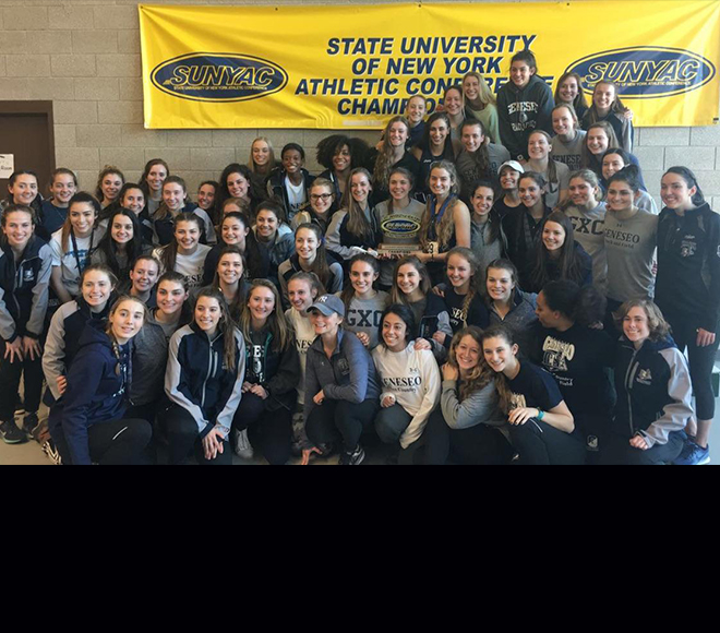 Geneseo wins 2018 women's indoor track and field championship