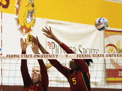 Ferris State will host Central Michigan this Friday in a pair of scrimmage matches.  (Photo by Ed Hyde)