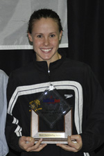 Abbey McKenney was named Most Outstanding Swimmer at the 2011 America East Championships.