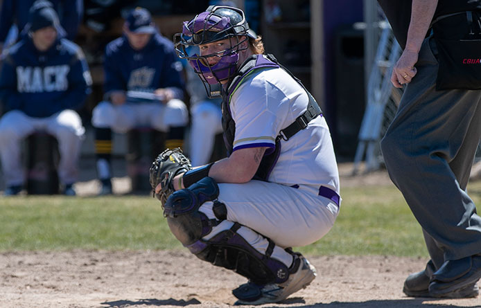 Baseball Swept at Franklin Pierce, 6-4 and 6-3, During NE10 Twinbill