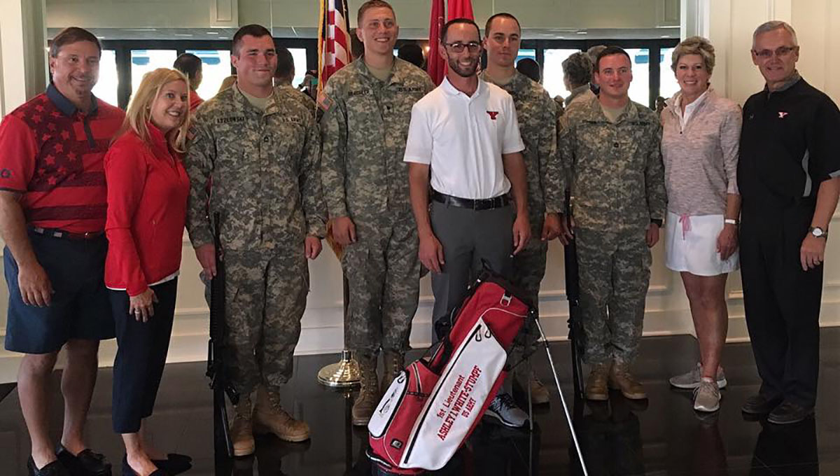 Head Coach Nate Miklos at the YSU ROTC Golf Outing