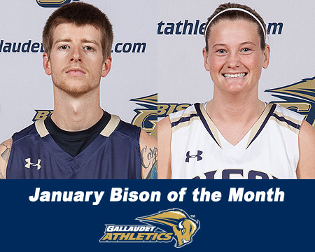 Layton Seeber, Lindsay Stergio named January Bison of the Month