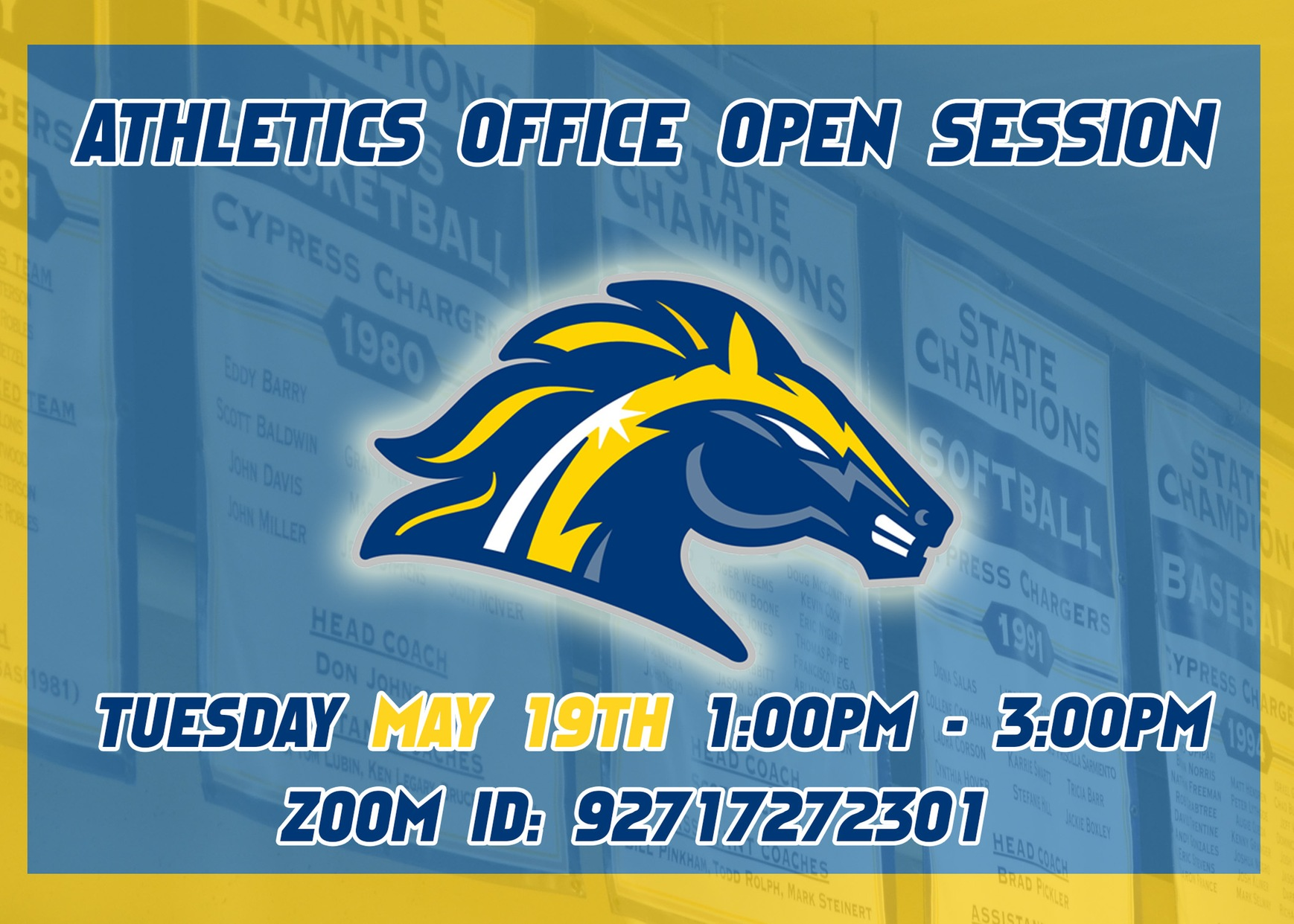 Open Zoom Session with the Athletics Department, May 19th