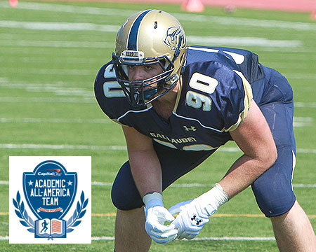 Gallaudet University earns first CoSIDA Academic All-America award since 1993, Talaat named to football second team