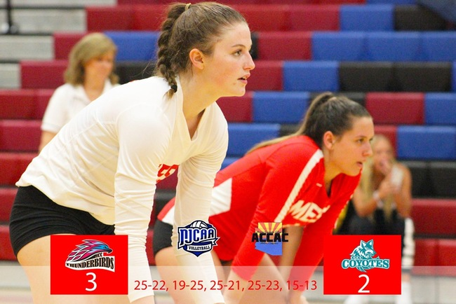 #16 Mesa Escapes With Five Set Win vs Chandler-Gilbert