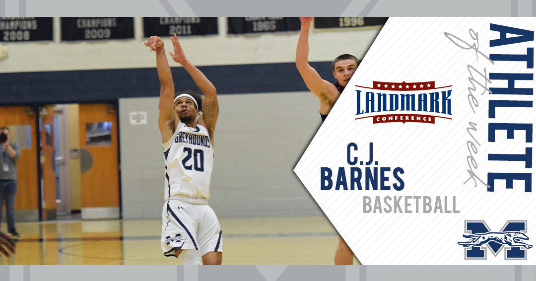 C.J. Barnes selected as Landmark Conference Men's Basketball Athlete of the Week
