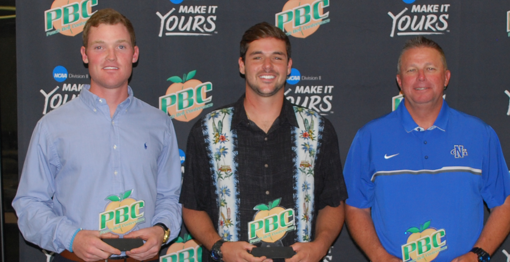 Bobcat shortstop Brandon Benson [left] was named PBC Player of the Year