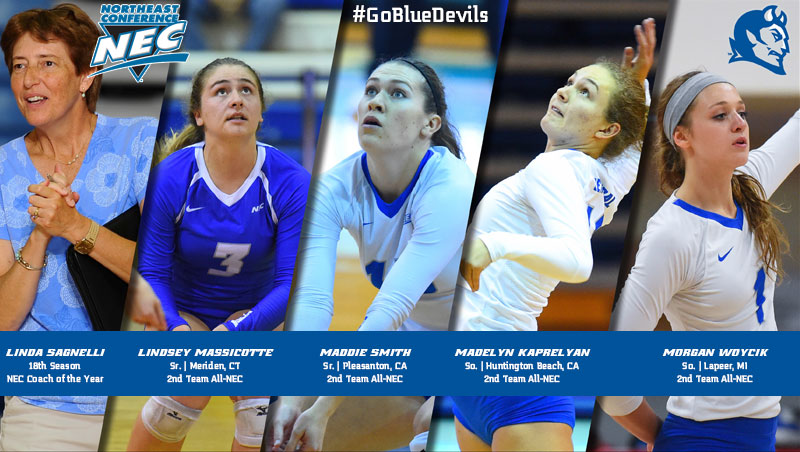 Volleyball Collects Northeast Conference Honors Thursday Night