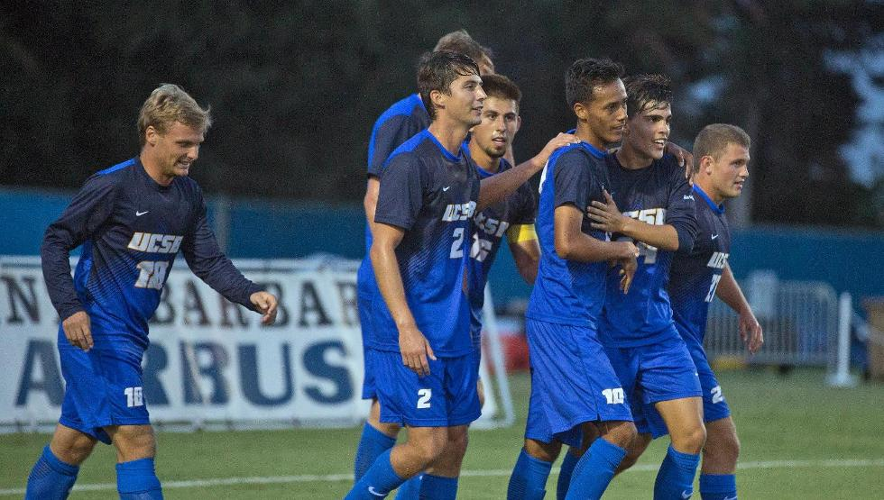 Josue España scored in the 76th minute to secure a 2-1 opening day win for UCSB (photo by Eric Isaacs)