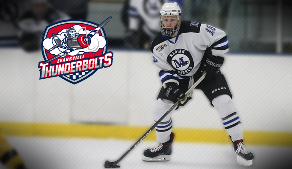 Hunter Stewart signed by Evansville Thunderbolts.