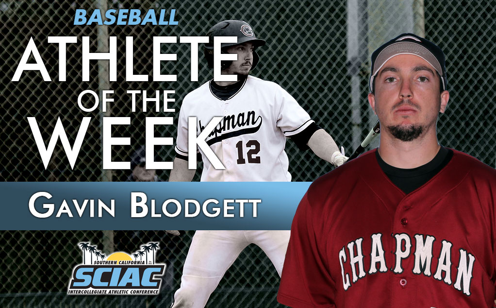 Blodgett blasts into SCIAC and D3baseball weekly honors