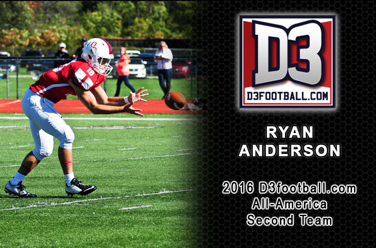 Anderson earns D3football.com All-America honors