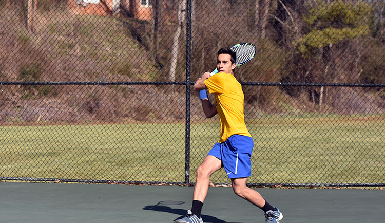 Men's Tennis Drops Pair of Decisions to Brevard and Belmont Abbey