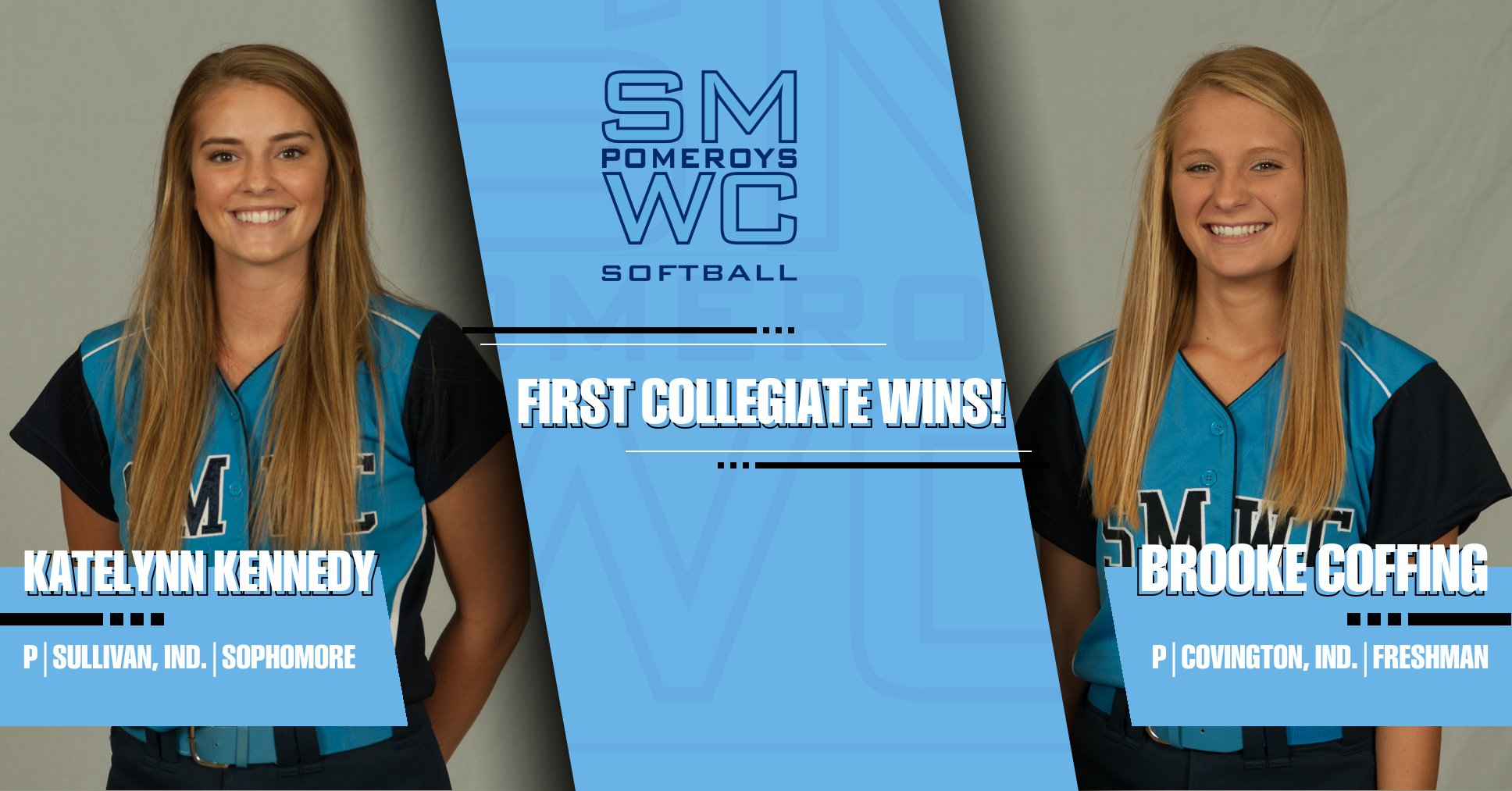 Impressive Pitching Earns the Pomeroys Two Victories on the Day; Coffing/Kennedy Grab First Collegiate Wins