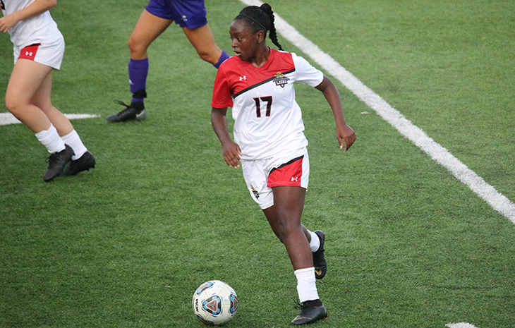 Women's Soccer Battles Rivier to 1-1 Draw
