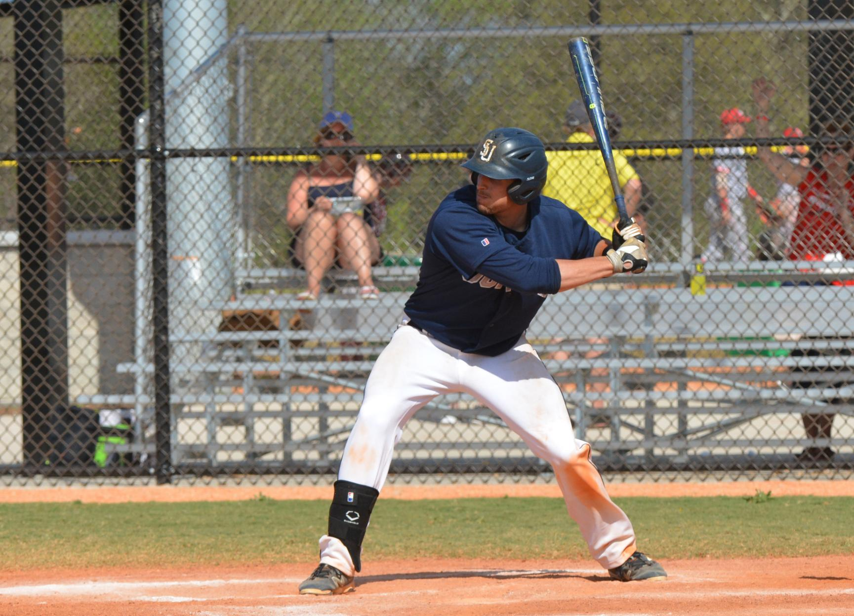 Baseball Locks Up Series Sweep with Offensive Onslaught of Rivier
