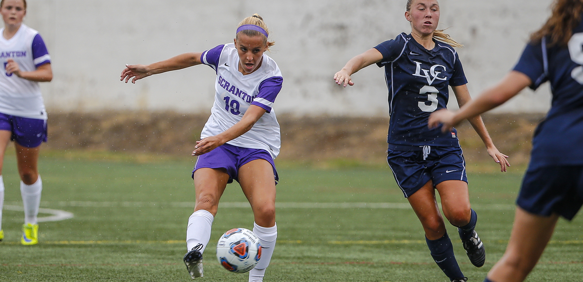 Junior Jamie Hreniuk had a first-half hat trick in the Royals' win over Marywood on Wednesday night.