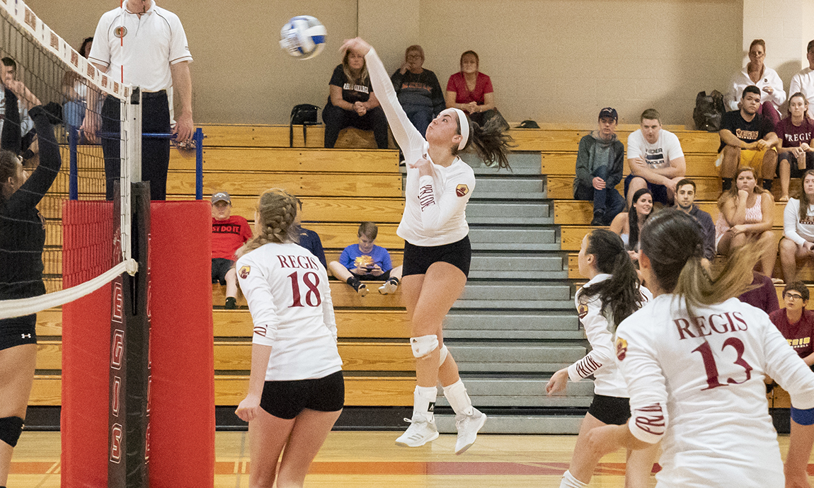 Regis Women's Volleyball Loses to Brandeis