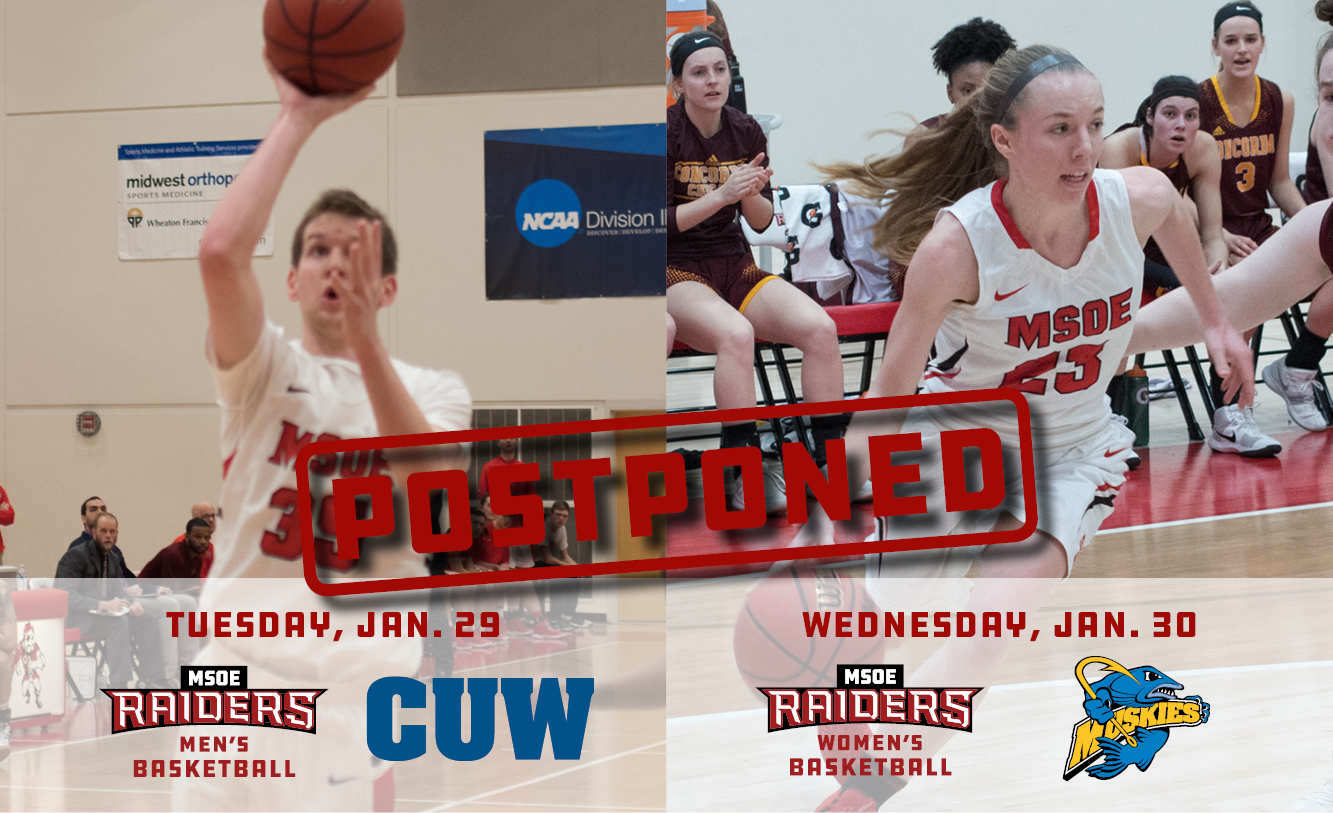 Weather Postpones Tuesday MBB, Wednesday WBB