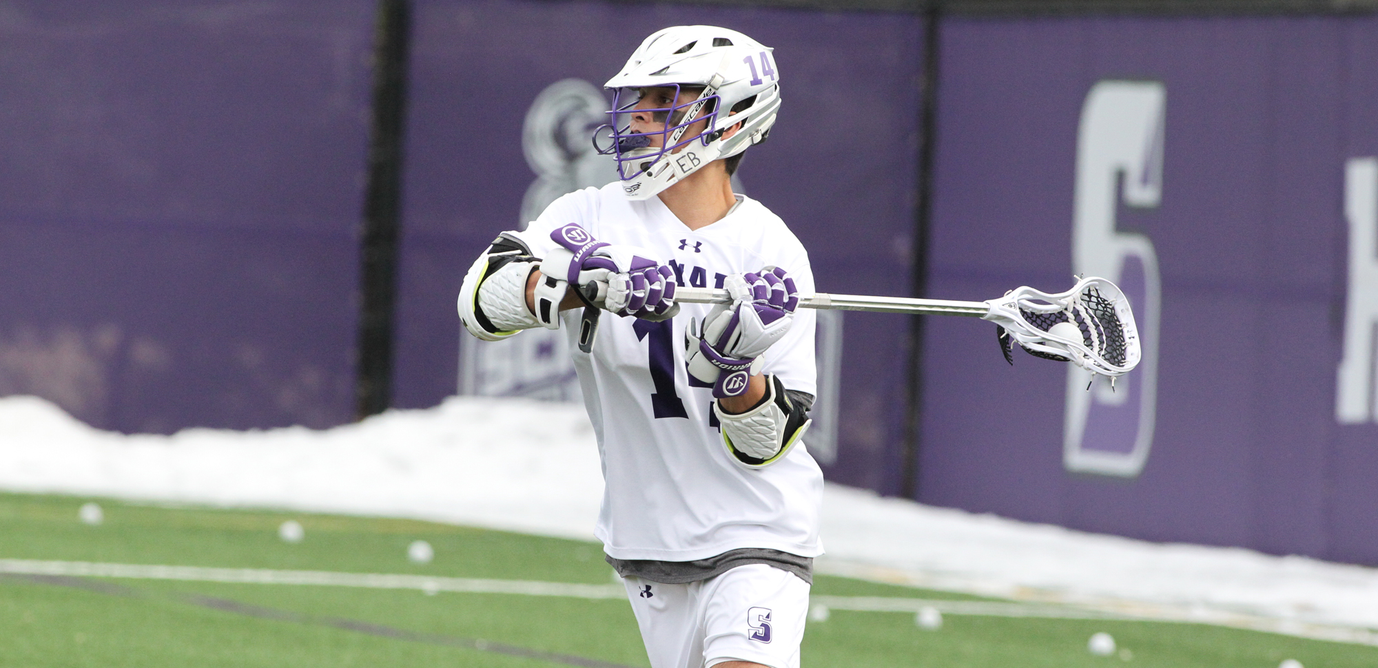 Senior Tim Dolan had a goal and an assist on Wednesday night to surpass the 100-point milestone as Scranton defeated Drew at Weiss Field. © Photo by Timothy R. Dougherty / doubleeaglephotography.com