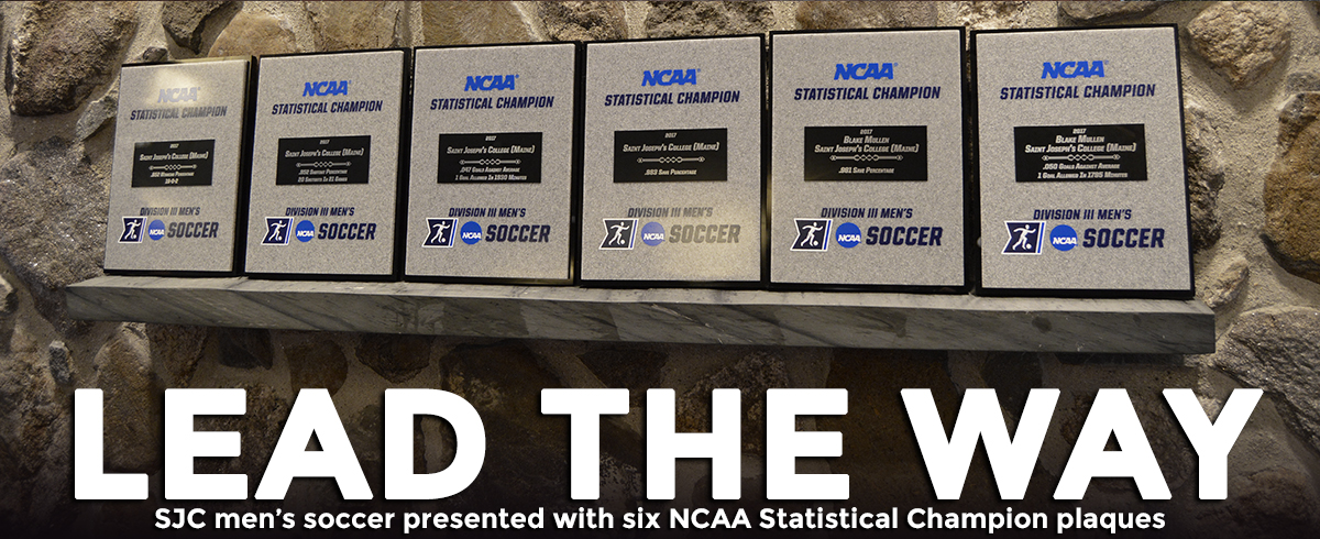 Men's Soccer Team Presented with NCAA Statistical Championship Plaques