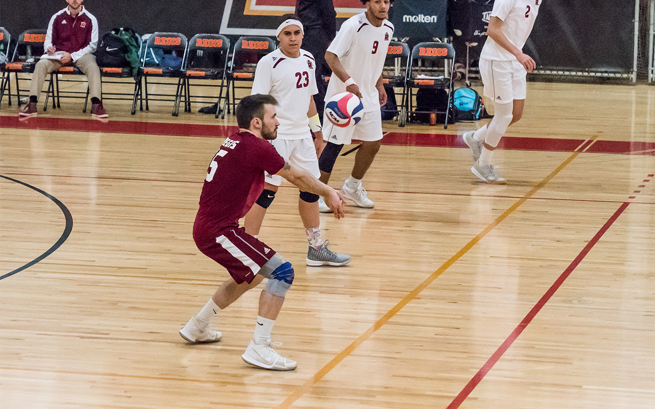 Men's Volleyball Too Much For Mount Ida