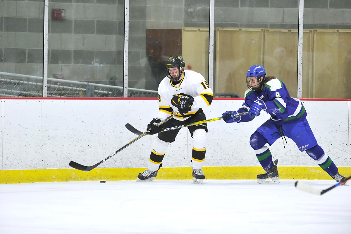 Fast Start Lifts New England College Past Hockey
