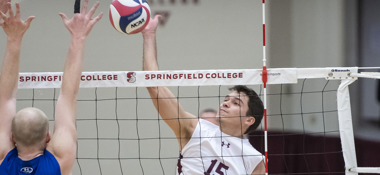 No. 2 Men's Volleyball Downs Lasell In Four Sets
