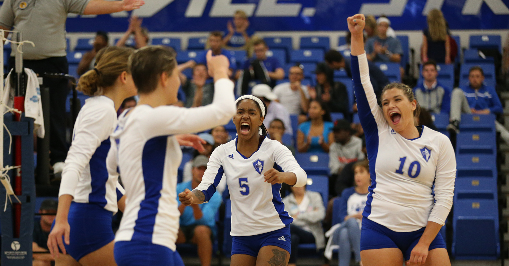 Volleyball Rallies to Win 2017 Home Opener in Five