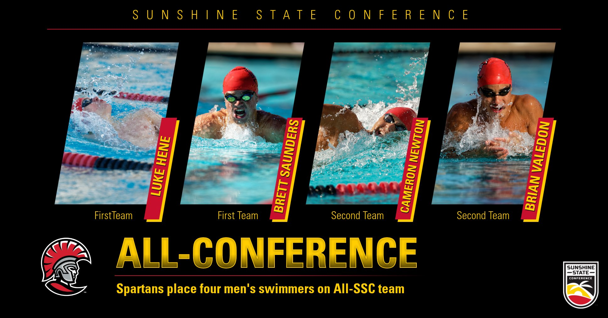 UT Men's Swimming Has Four on All-SSC Team