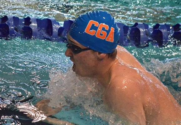 Men's Swimming and Diving Claims Convincing Victory