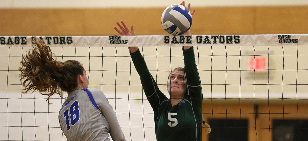 Skidmore takes win over Sage in volleyball action