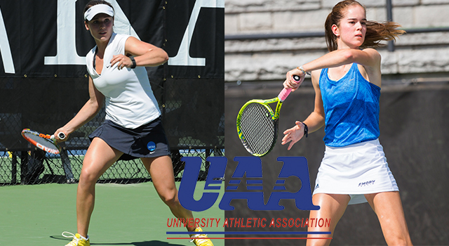 UAA Announces 2018 Women's Tennis All-Association Team; Bridget Harding and Ysabel Gonzalez-Rico of Emory Earn Top Awards