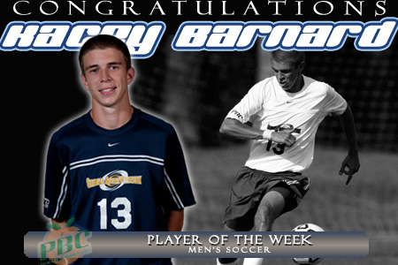 Barnard named PBC Player of the Week