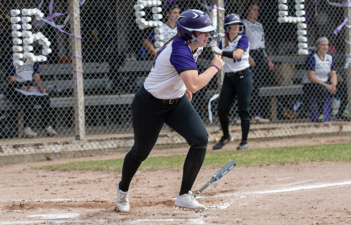 Softball Caps 2019 Season with Setback at Assumption
