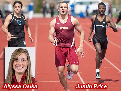 FSU's Alyssa Osika and Justin Price were both individual winners at the Aquinas Invitational (FSU Photo Services)