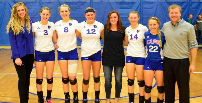 Volleyball clinches No. 2 seed in NACC Tournament with Senior Night victory