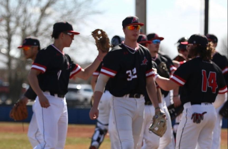 Red Devils Rebound and Sweep Greyhounds