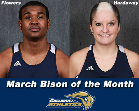 Flowers, Hardaway earn March Bison of the Month honors