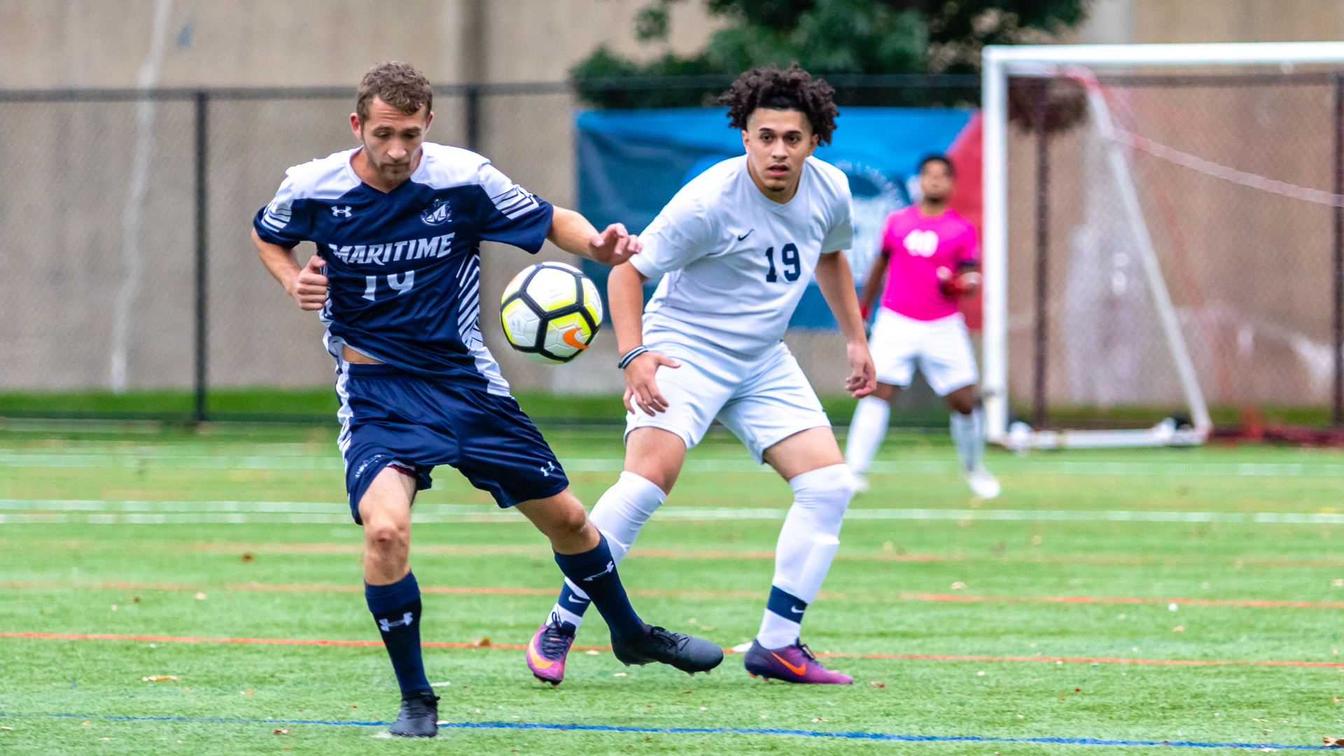 Men's Soccer Clipped by First-Place Maritime, 3-2