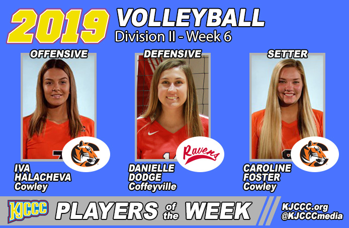 Red Raven Volleyball's Danielle Dodge Sweeps KJCCC & NJCAA Defensive Player of the Week Awards