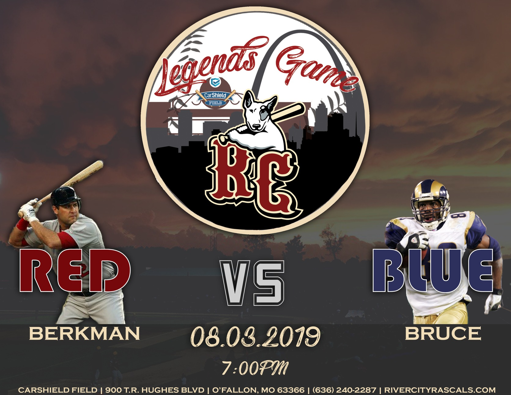 Berkman, Bruce Announced as Legends Game Headliners