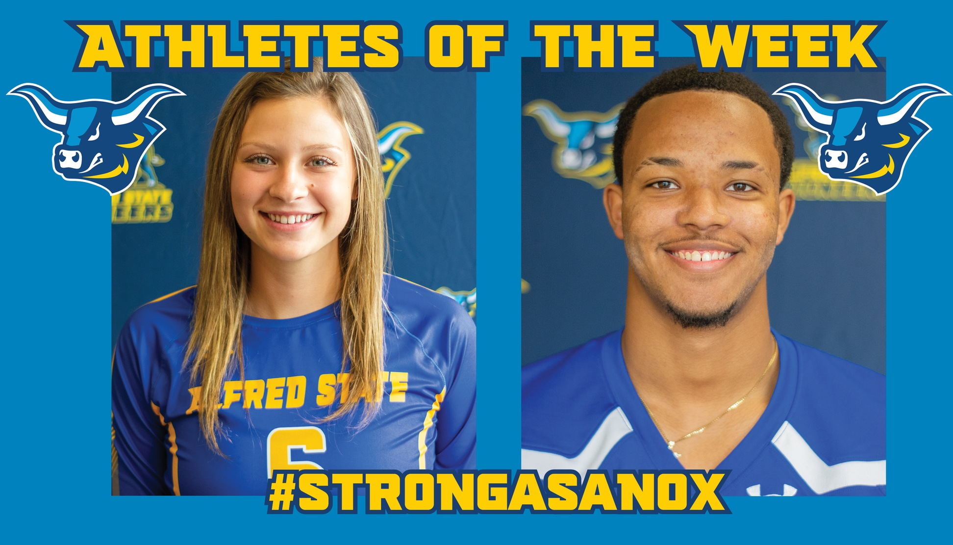 Alyssa Fox and Dashown Wilson have been named Alfred State Athletes of the Week