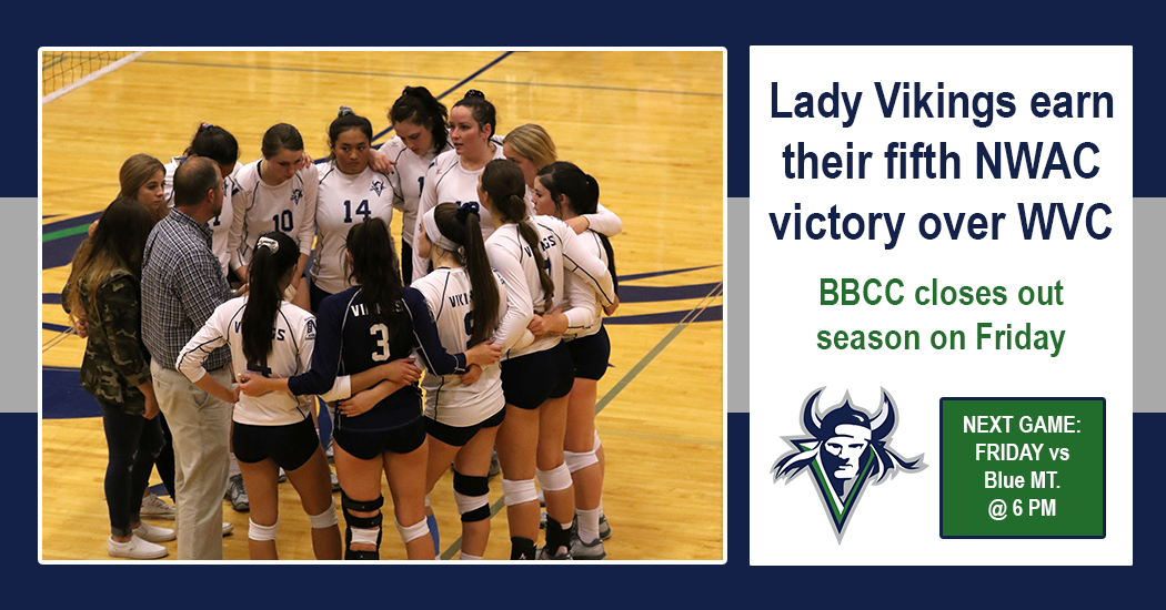VIkings volleyball picks up fifth NWAC win of the season