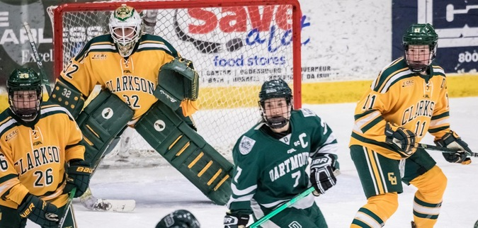 Clarkson suffers second straight defeat in overtime loss to Dartmouth