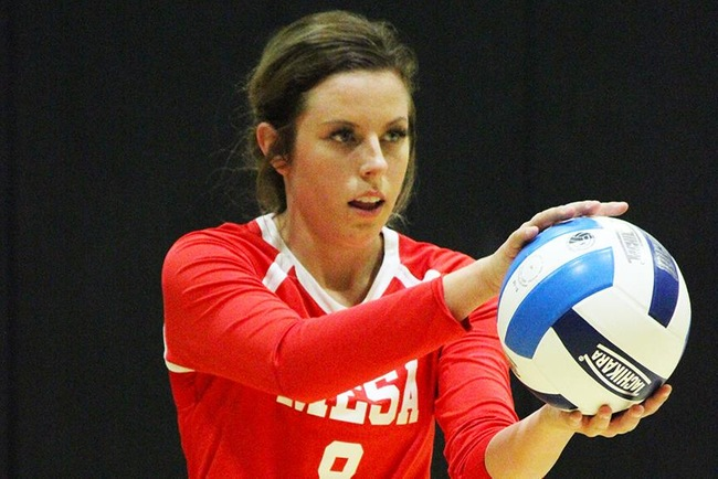 #13 Mesa Volleyball Sweeps Scottsdale in 3 Sets